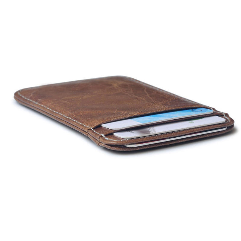 Slim pu leather credit card holder