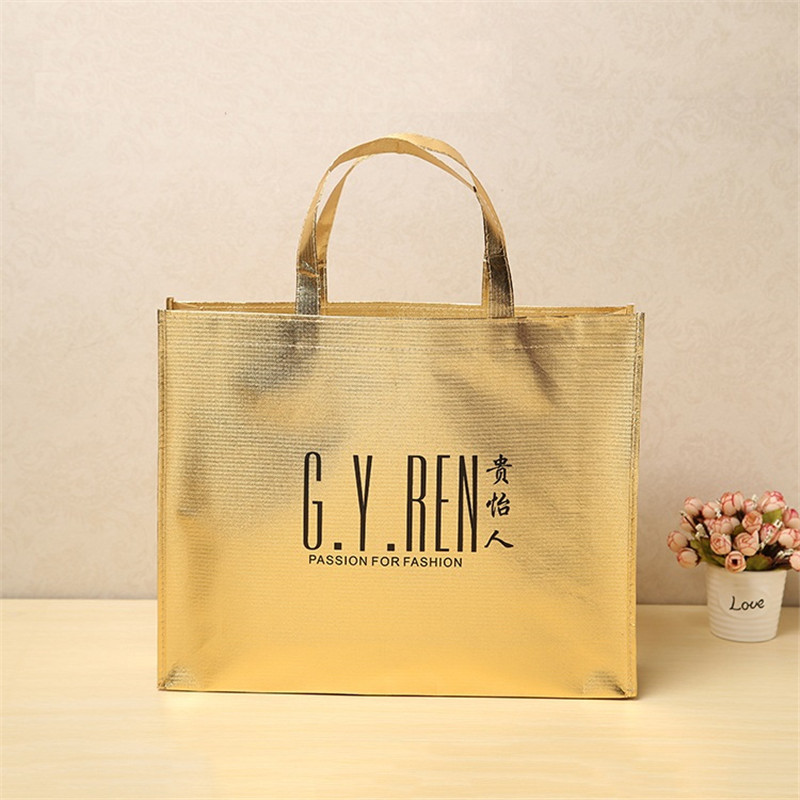 Horizontal Type Laminated PP Non Woven Tote Shopping Bag