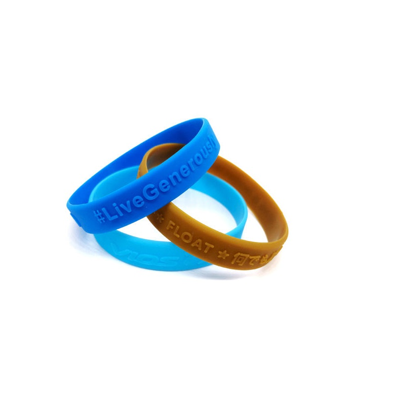 Embossed logo silicon wristband