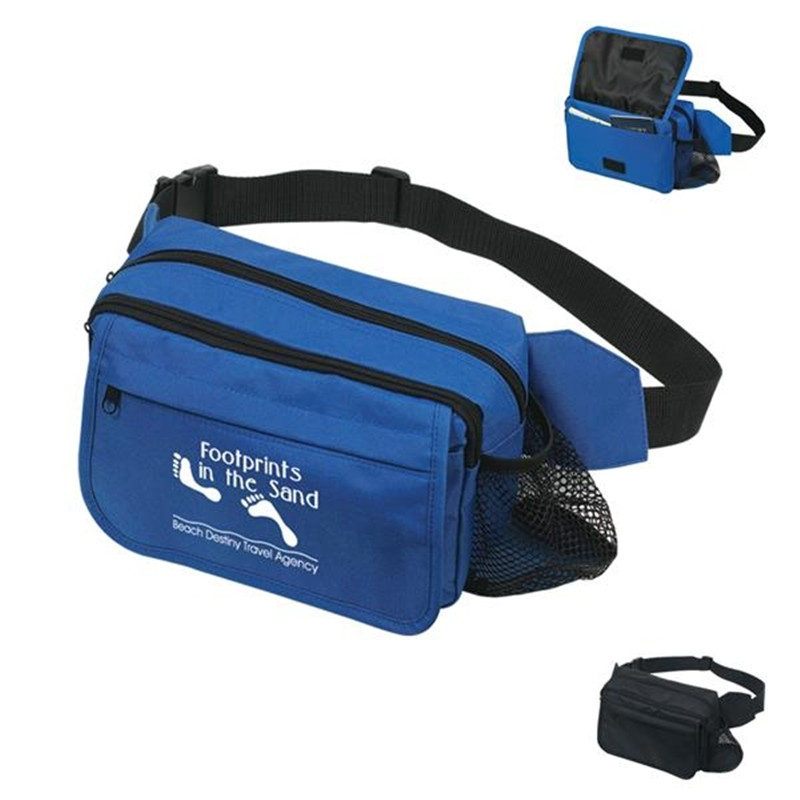 Happy Travels Fanny Pack in 600D Polyester