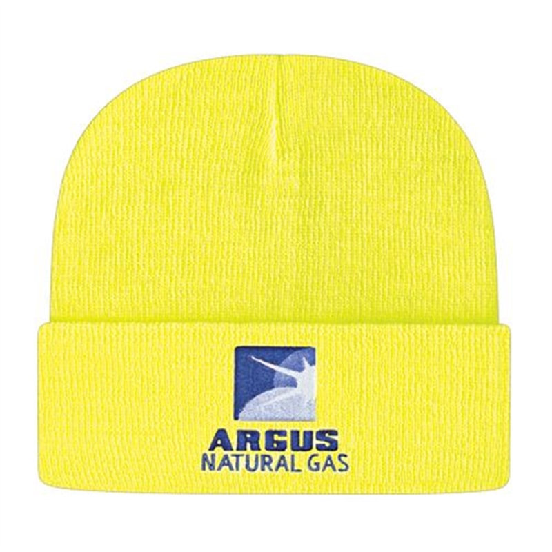 Silkscreen printing logo Knit Cap with Cuff for promotion