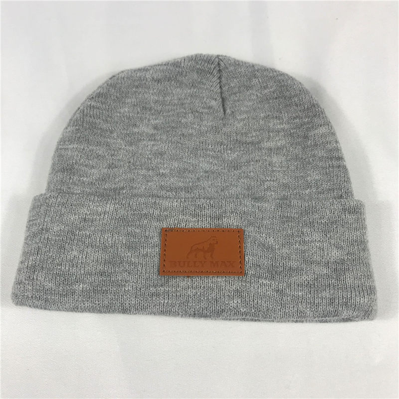 Labeling logo Knit Cap with Cuff for promotion