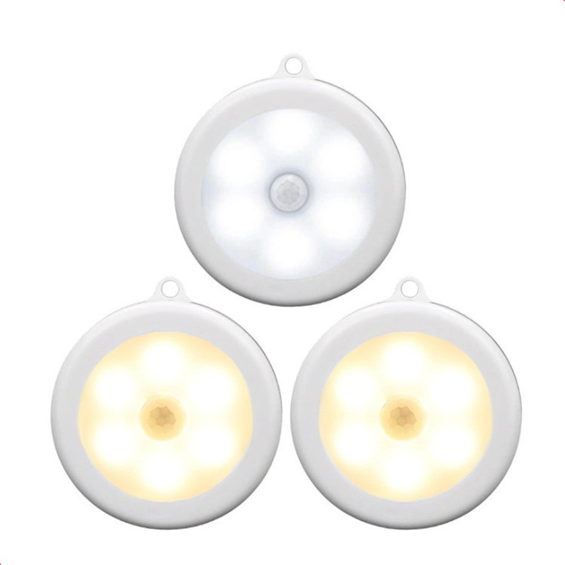 Round shape 6 LED sensor light