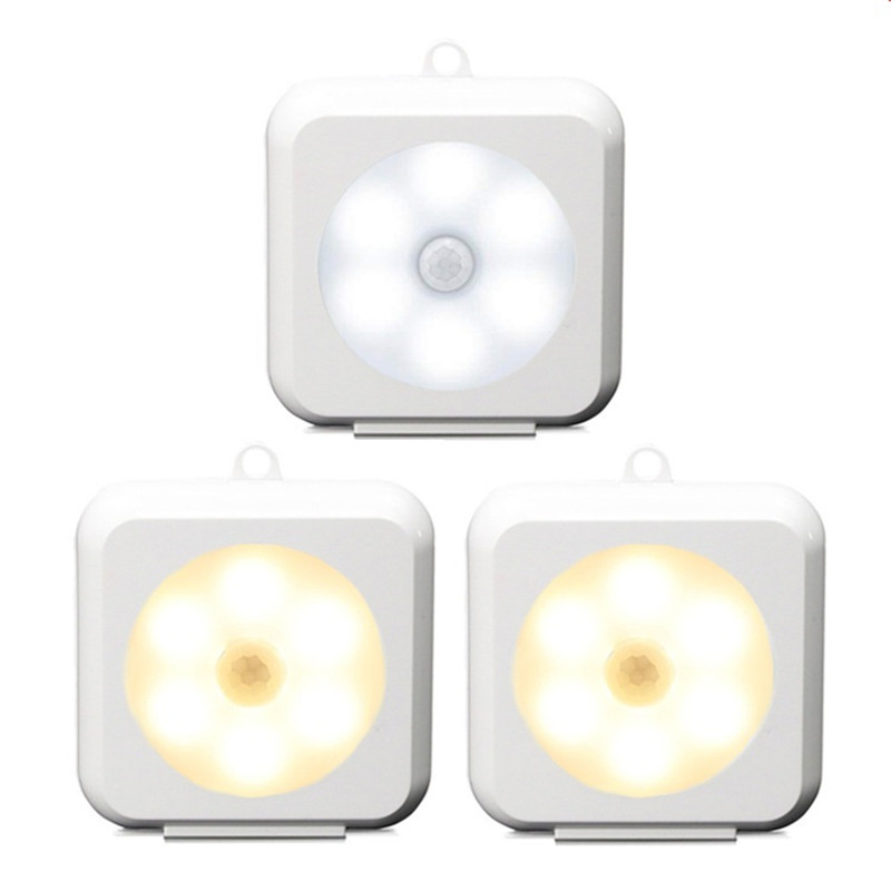 Squared shape 6 LED sensor light