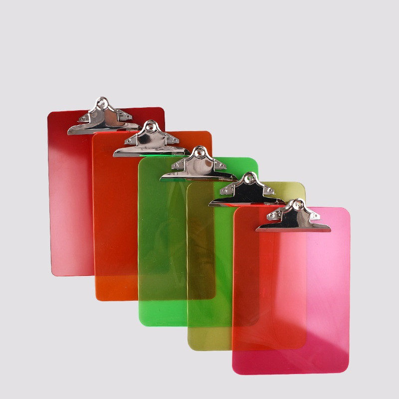 Transparent Surface Plastic Clipboard with Butterfly Clip