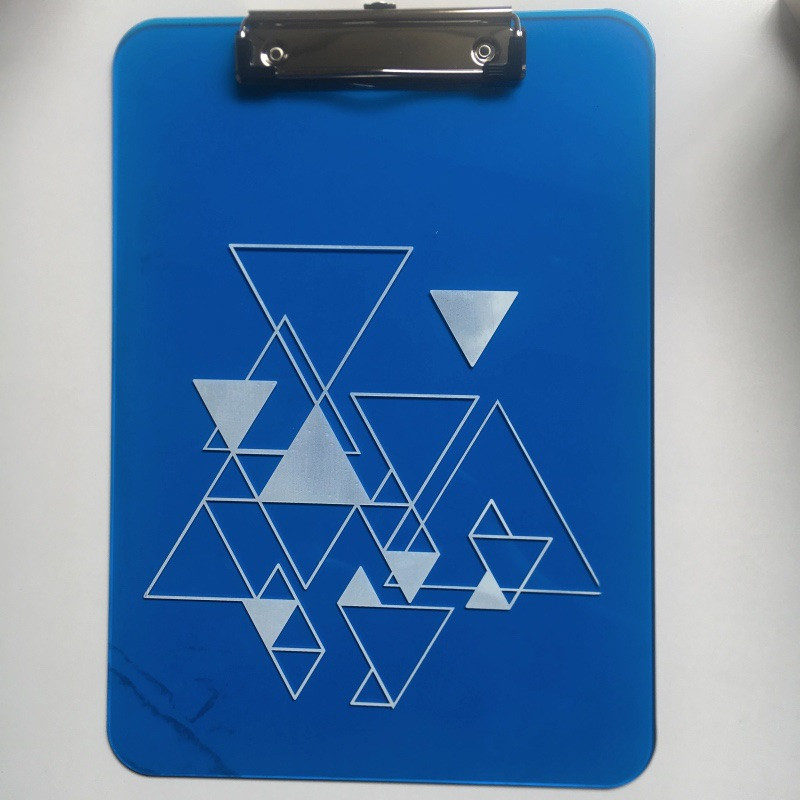 Full color UV printing  Plastic Clipboard with Low-profile clip