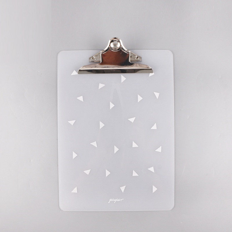 Full color UV printing  Plastic Clipboard  With Butterfly Clip