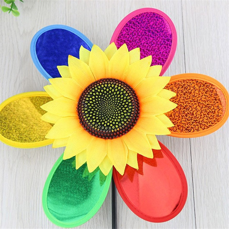 Colorful sunflower Kids Toy Windmills