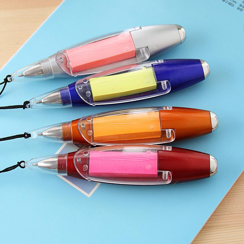 Creative Light Ball Pen With Memo Pad
