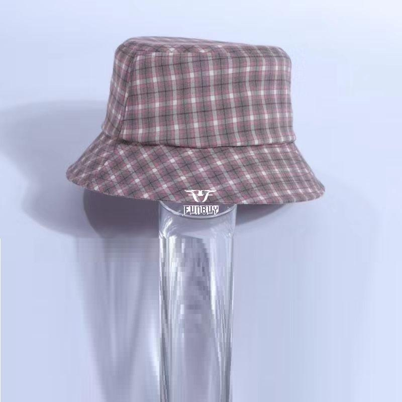 Check gingham Summer hats  fishing hats beach sun cap